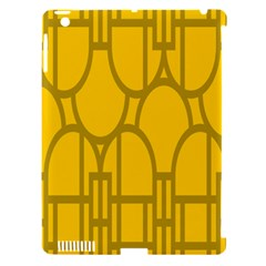 The Michigan Pattern Yellow Apple iPad 3/4 Hardshell Case (Compatible with Smart Cover)