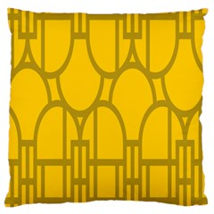 The Michigan Pattern Yellow Large Cushion Case (One Side)