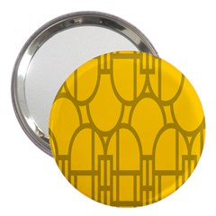 The Michigan Pattern Yellow 3  Handbag Mirrors