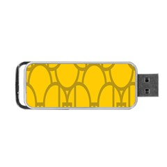 The Michigan Pattern Yellow Portable Usb Flash (one Side)