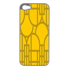 The Michigan Pattern Yellow Apple Iphone 5 Case (silver)
