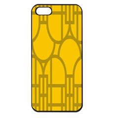 The Michigan Pattern Yellow Apple Iphone 5 Seamless Case (black)