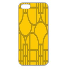 The Michigan Pattern Yellow Apple Seamless iPhone 5 Case (Clear)