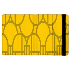 The Michigan Pattern Yellow Apple iPad 3/4 Flip Case