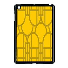The Michigan Pattern Yellow Apple iPad Mini Case (Black)