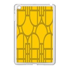 The Michigan Pattern Yellow Apple iPad Mini Case (White)
