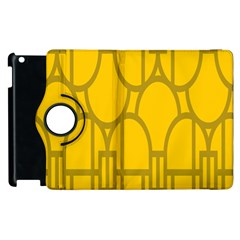The Michigan Pattern Yellow Apple iPad 2 Flip 360 Case