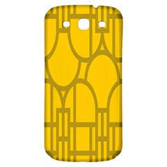 The Michigan Pattern Yellow Samsung Galaxy S3 S III Classic Hardshell Back Case
