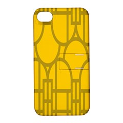 The Michigan Pattern Yellow Apple iPhone 4/4S Hardshell Case with Stand