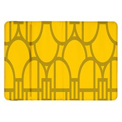 The Michigan Pattern Yellow Samsung Galaxy Tab 8.9  P7300 Flip Case