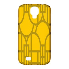The Michigan Pattern Yellow Samsung Galaxy S4 Classic Hardshell Case (PC+Silicone)