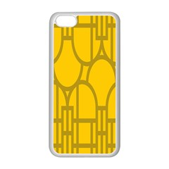 The Michigan Pattern Yellow Apple iPhone 5C Seamless Case (White)