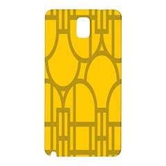 The Michigan Pattern Yellow Samsung Galaxy Note 3 N9005 Hardshell Back Case