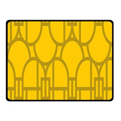 The Michigan Pattern Yellow Double Sided Fleece Blanket (Small)