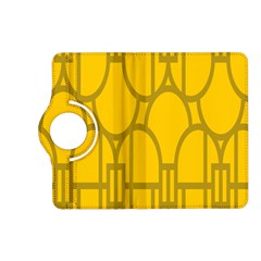 The Michigan Pattern Yellow Kindle Fire Hd (2013) Flip 360 Case