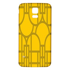 The Michigan Pattern Yellow Samsung Galaxy S5 Back Case (White)