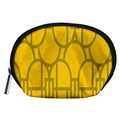 The Michigan Pattern Yellow Accessory Pouches (Medium)