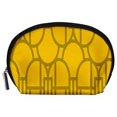 The Michigan Pattern Yellow Accessory Pouches (large)