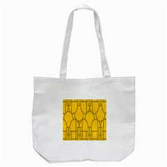 The Michigan Pattern Yellow Tote Bag (White)