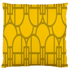 The Michigan Pattern Yellow Large Flano Cushion Case (One Side)