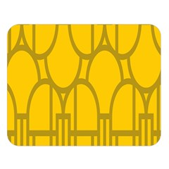 The Michigan Pattern Yellow Double Sided Flano Blanket (Large)