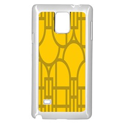 The Michigan Pattern Yellow Samsung Galaxy Note 4 Case (White)