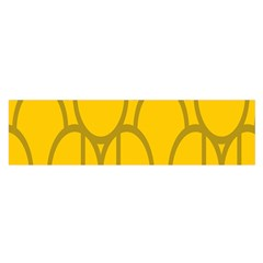 The Michigan Pattern Yellow Satin Scarf (Oblong)