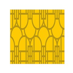 The Michigan Pattern Yellow Small Satin Scarf (Square)