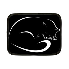 Cat Black Vector Minimalism Netbook Case (Small)