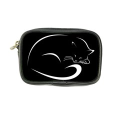 Cat Black Vector Minimalism Coin Purse
