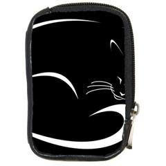Cat Black Vector Minimalism Compact Camera Cases