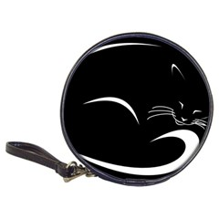 Cat Black Vector Minimalism Classic 20 Cd Wallets