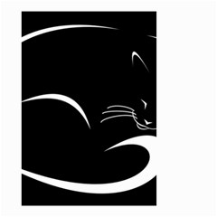 Cat Black Vector Minimalism Small Garden Flag (Two Sides)