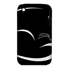 Cat Black Vector Minimalism iPhone 3S/3GS