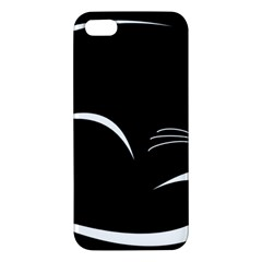 Cat Black Vector Minimalism Apple iPhone 5 Premium Hardshell Case