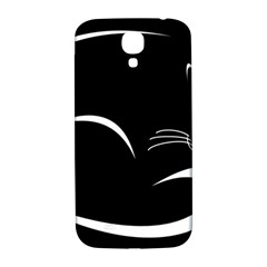 Cat Black Vector Minimalism Samsung Galaxy S4 I9500/i9505  Hardshell Back Case
