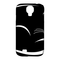 Cat Black Vector Minimalism Samsung Galaxy S4 Classic Hardshell Case (PC+Silicone)