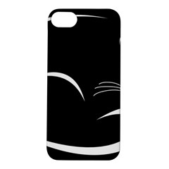 Cat Black Vector Minimalism Apple iPhone 5S/ SE Hardshell Case