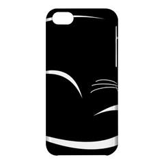 Cat Black Vector Minimalism Apple iPhone 5C Hardshell Case