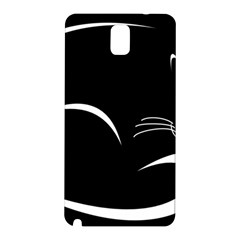 Cat Black Vector Minimalism Samsung Galaxy Note 3 N9005 Hardshell Back Case