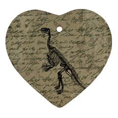Dinosaur skeleton Ornament (Heart)