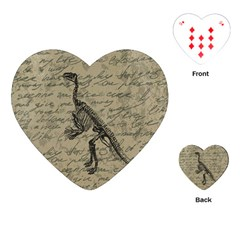 Dinosaur skeleton Playing Cards (Heart)