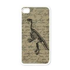 Dinosaur skeleton Apple iPhone 4 Case (White)