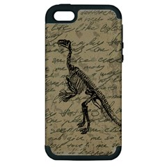 Dinosaur skeleton Apple iPhone 5 Hardshell Case (PC+Silicone)