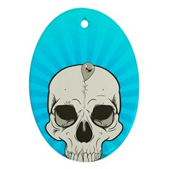 Skull Ball Line Schedule Ornament (Oval)