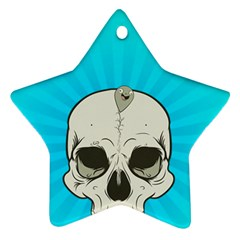 Skull Ball Line Schedule Ornament (Star)