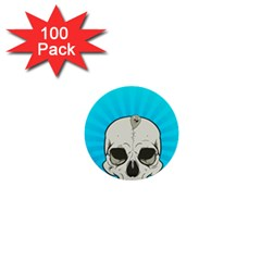 Skull Ball Line Schedule 1  Mini Buttons (100 Pack)