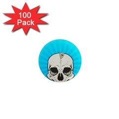 Skull Ball Line Schedule 1  Mini Magnets (100 pack)
