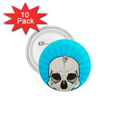Skull Ball Line Schedule 1 75  Buttons (10 Pack)