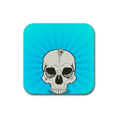 Skull Ball Line Schedule Rubber Square Coaster (4 pack)